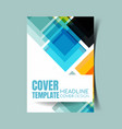 abstract report cover 19 vector image vector image