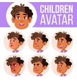 arab muslim boy avatar set kid vector image vector image