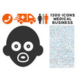 baby head icon with 1300 medical business icons vector image