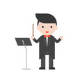 band master and music stand set profession vector image