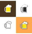 beer mug isolated icon or logo for pub vector image vector image
