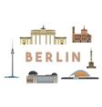 Berlin Landmarks Skyline vector image vector image