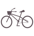 bicycle with basket riding and cycling transport vector image