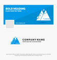 blue business logo template for mountains nature vector image