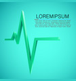 cardiogram wave background medicine concept vector image vector image