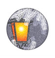 christmas lantern with snowfall in the night vector image vector image