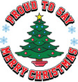 christmas proud vector image vector image