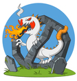 Cigarette - monster vector image