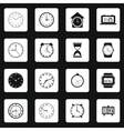 Clocks icons set vector image vector image