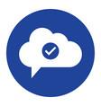cloud check icon computing concept vector image