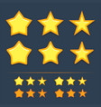 collection star icons vector image vector image