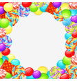 colorful lollipops background vector image