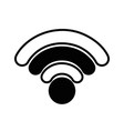 contour wifi connection network digital symbol vector image vector image