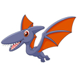 Cute pterodactyl cartoon vector image vector image