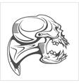Cyber punk robot skull vector image vector image