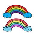 draw rainbow icon vector image