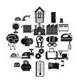 electrical engineering icons set simple style vector image vector image