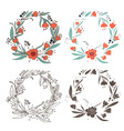 elements floral vector image