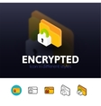 Encrypted icon in different style vector image vector image