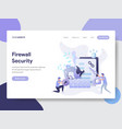 firewall security concept vector image