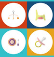 flat baby set of toilet nipple mobile and other vector image vector image