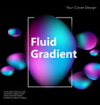 fluid gradient liquid cover design for banner vector image