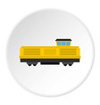freight train icon circle vector image vector image