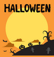 halloween background flat style vector image vector image