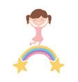 happy childrens day little girl celebration vector image vector image