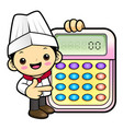 head chef character is instructing holding a vector image vector image