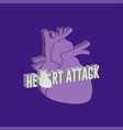 heart attack logo icon design medical vector image vector image
