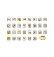 home repair and building icons set vector image vector image