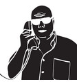 image of a man talking on the phone vector image vector image