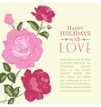 Invitation with roses vector image vector image