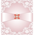 Lace and jewelry vector image vector image