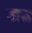 magic of sparkling glittery particles on a dark vector image