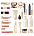 makeup items super set vector image
