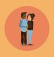 man and woman interracial couple hugging vector image