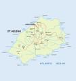 map british island st helena vector image vector image