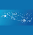 model speed car wire-frame eps10 format vector image vector image