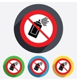 No Graffiti spray can sign icon Aerosol paint vector image vector image