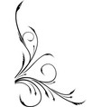 ornamental floral corner for your design or tattoo vector image vector image