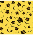 pattern with owls and bats vector image