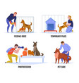 people help dogs composition vector image vector image