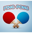 Ping pong rackets vector image vector image
