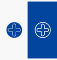 plus sign hospital medical line and glyph solid vector image vector image