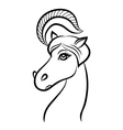 Portrait of horse vector image