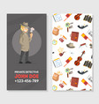private detective business card template vector image vector image