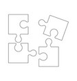 puzzel of the icons good game skill vector image vector image