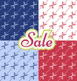Sale pattern witj cutting scissors vector image